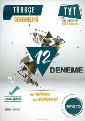 Episto TYT Türkçe 12'li Deneme