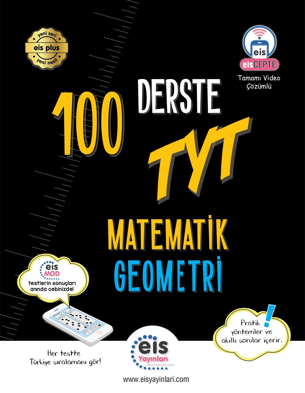 Bry - Birey Eğitim Yayınları YKS  100 Derste TYT  Matematik  Geometri