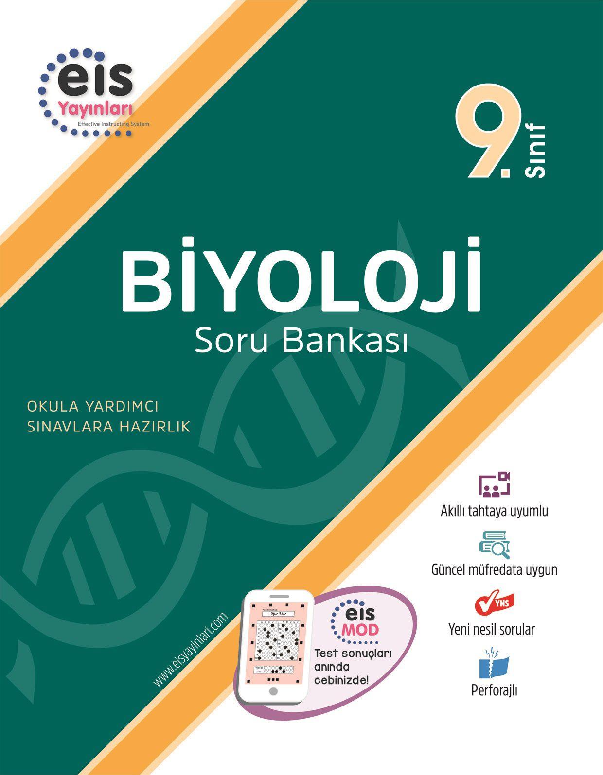 Bry - Birey Eğitim Yayınları 9.Sınıf  Soru Bankası  Biyoloji