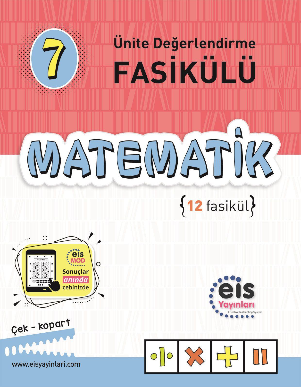 Bry - Birey Eğitim Yayınları 7.Sınıf  Ünite Değerlendirme Fasikülü (112)  Matematik